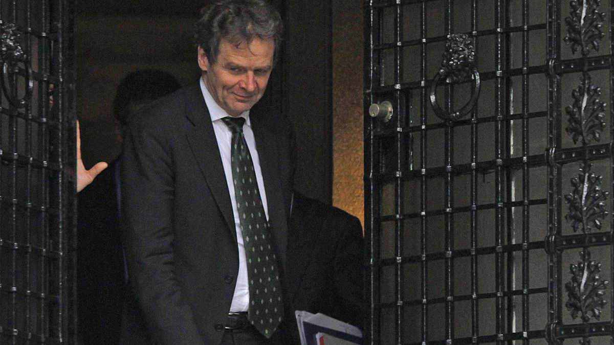 IMF chief debt inspector Poul Thomsen, a member of the so-called troika of Greece's creditors, leaves the Greek Prime Minister Lucas Papademos' official residence in Athens after a meeting on austerity measures on Sunday, Feb. 5, 2012.