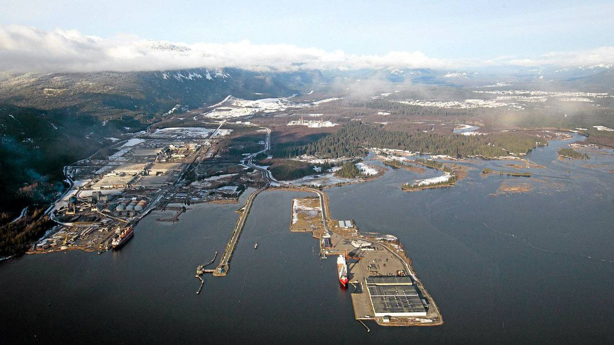 Douglas Channel in Kitimat, B.C., the proposed termination point for Enbridge's controversial Northern Gateway pipeline. An oil industry executive says the financial benefits of such proposals should carry more weight than they do now.