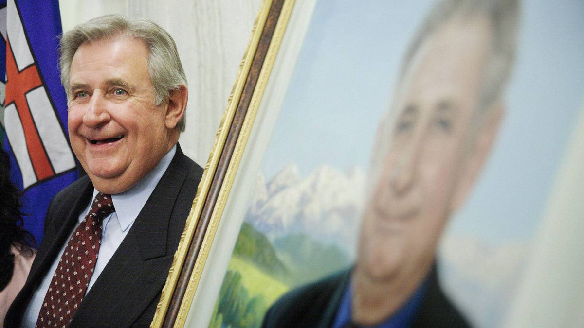 Former premier Ralph Klein, at the unveiling of his official portrait at the Alberta Legislature Rotunda in Edmonton, Alta. on Thursday, August 30, 2007.