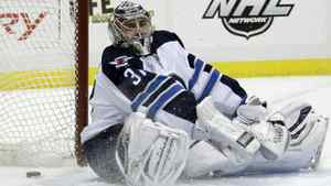 Winnipeg Jets goalie Ondrej Pavelec was shelled in Pittsburgh Feb. 11, 2012.