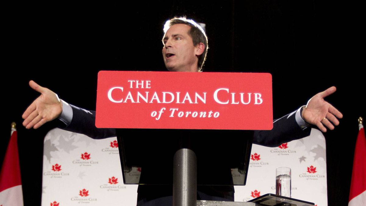 Ontario Premier Dalton McGuinty speaking to the Canadian Club at The Royal York Hotel in Toronto on Jan. 24, 2012.
