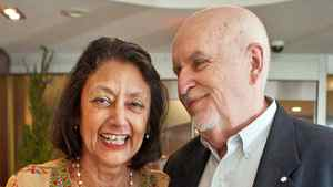 Bharati Mukherjee and Clark Blaise pictured in Toronto on June 6, 2011.