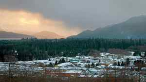 The town of Kitimat, B.C., with Douglas Channel in the distance. Shell is pursuing plans to build an LNG plant in Kitimat to ship natural gas produced from northeastern B.C. shale deposits to Asian markets.