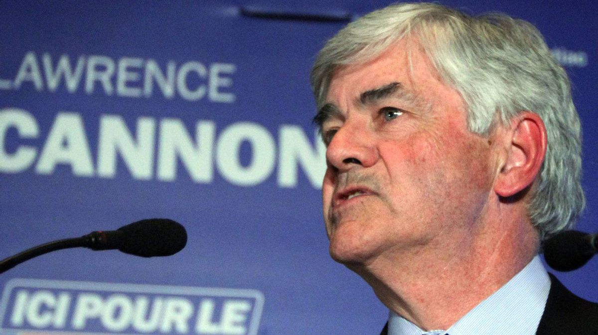 Former Conservative foreign affairs minister Lawrence Cannon concedes defeat in his riding of Pontiac, Monday May 2 , 2011 in Chelsea, Que.