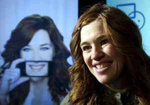 Canadian Olympic athlete Clara Hughes speaks during an announcement in Ottawa, Tuesday September 21, 2010. Bell Canada announced it would invest in mental health innitiatives.