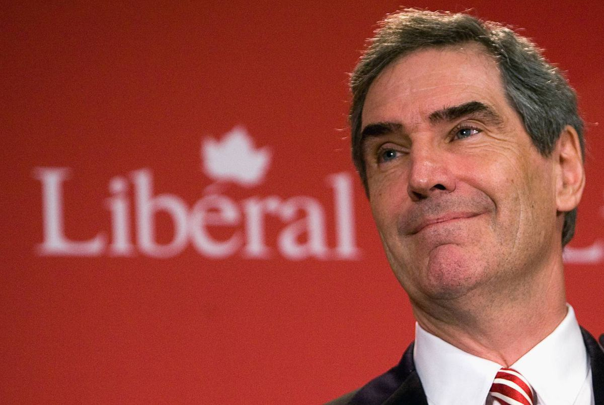 Liberal Leader Michael Ignatieff delivers a speech at his party's summer caucus retreat in Sudbury on Sept 1, 2009.