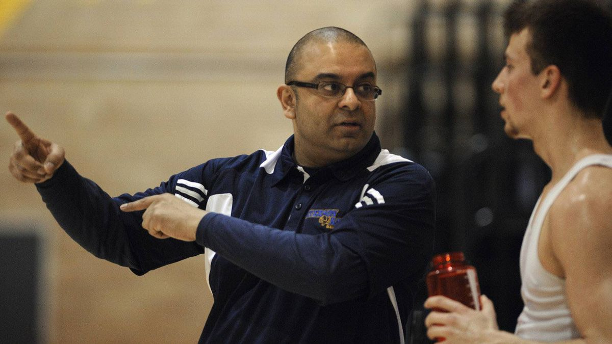 Coach Roy Rana is photographed during basketball practice at Ryerson University on March 31 2011. Attending the practice was Kevin Pangos, 17, a high-school student who will be teaming with players from around the world next week during the Nike Hoops Summit.