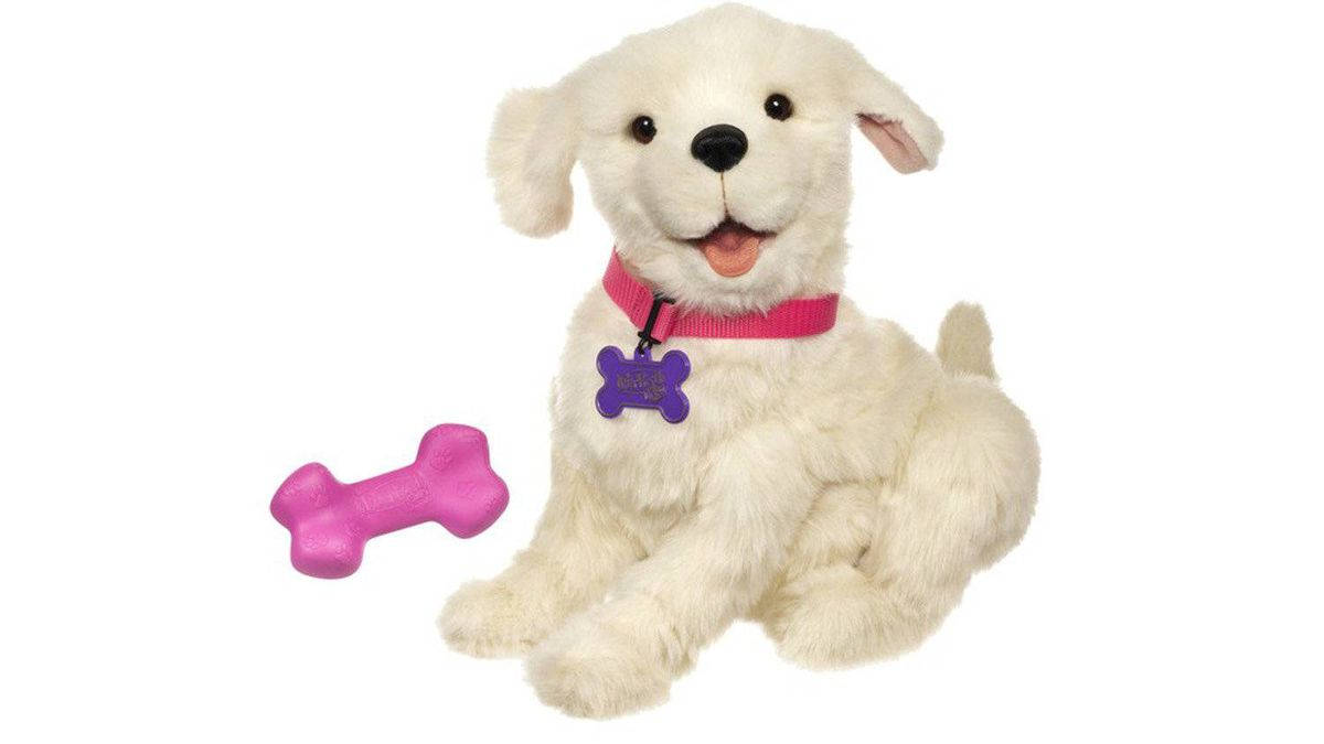 Furreal Friends Cookie My Playful Pup If your children keep begging for a dog, this realistic, electronic pooch might satisfy them for awhile. Turn it into a 'teachable moment' by telling them its batteries will wear out unless it's walked each morning at 6 a.m. $69.99, hasbro.ca