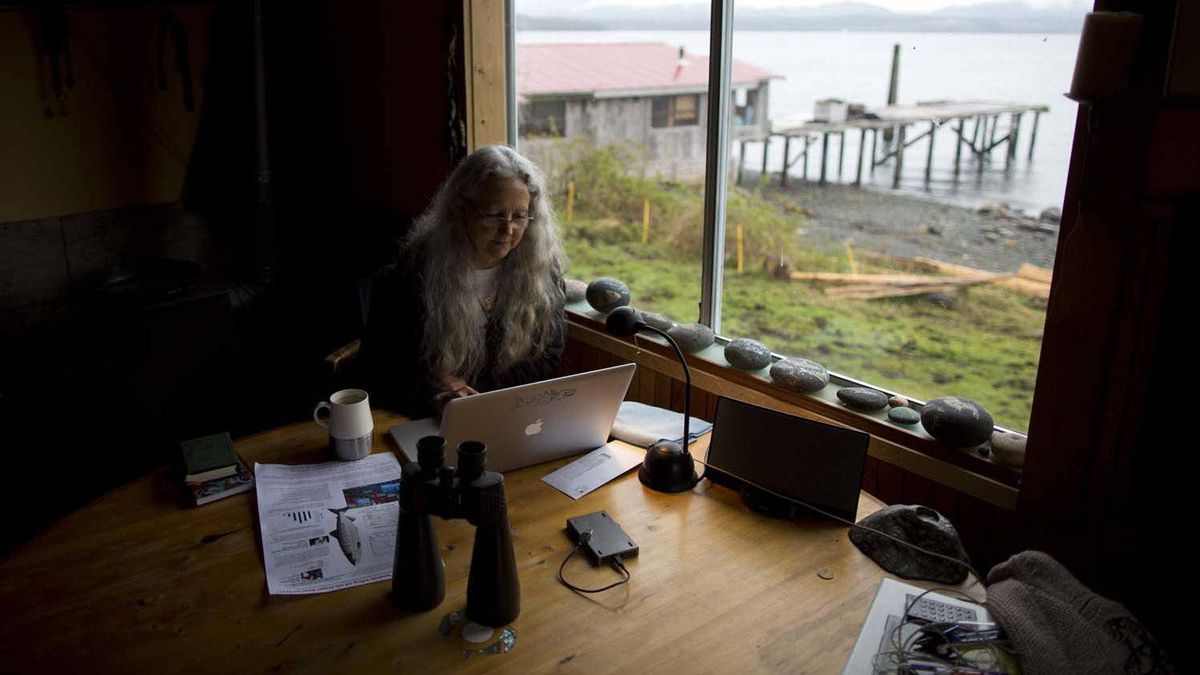 Critics have dismissed her views as extreme and challenge her scientific research as biased, but she is determined to continue. Ms. Morton is seen here in her home on Sointula, B.C.