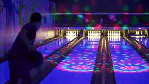 The lanes at All Star Interactive, a bowling hangout in Toronto, ON