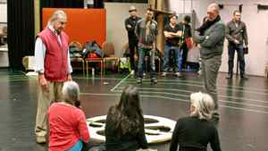 Peter Hinton, right, directs rehearsal for the NAC production of King Lear.