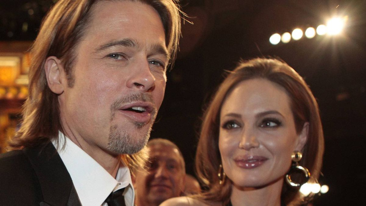 Brad Pitt and Angelina Jolie at the the 18th annual Screen Actors Guild Awards in Los Angeles on Jan. 29, 2012.