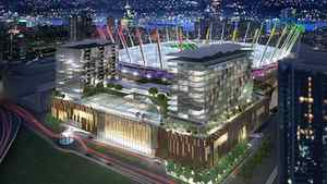 Artist's impression of plans for a casino at BC Place in Vancouver.