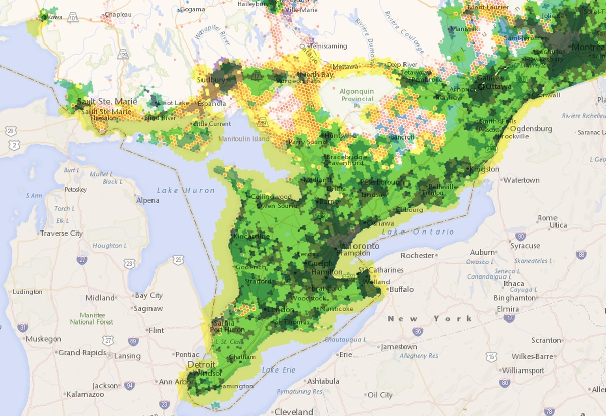 Map: Broadband Internet coverage in Canada - The Globe and Mail on