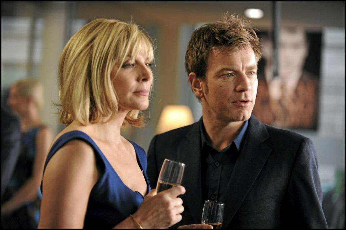 Kim Cattrall and Ewan McGregor star in The Ghost Writer.