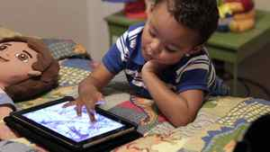 Frankie Thevenot, 3, plays with an iPad in his bedroom at his home in Metairie, La. About 40 per cent of 2- to 4-year-olds (and 10 per cent of kids younger than that) have used a smartphone, tablet or video iPod, according to a new study by the nonprofit group Common Sense Media.