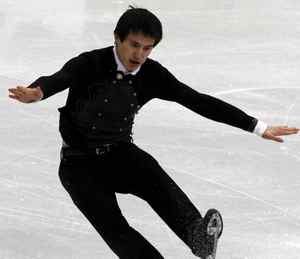 Canada's Patrick Chan stumbles during the men's free skating figure skating competition at the Vancouver 2010 Winter Olympics February 18, 2010. REUTERS/David Gray