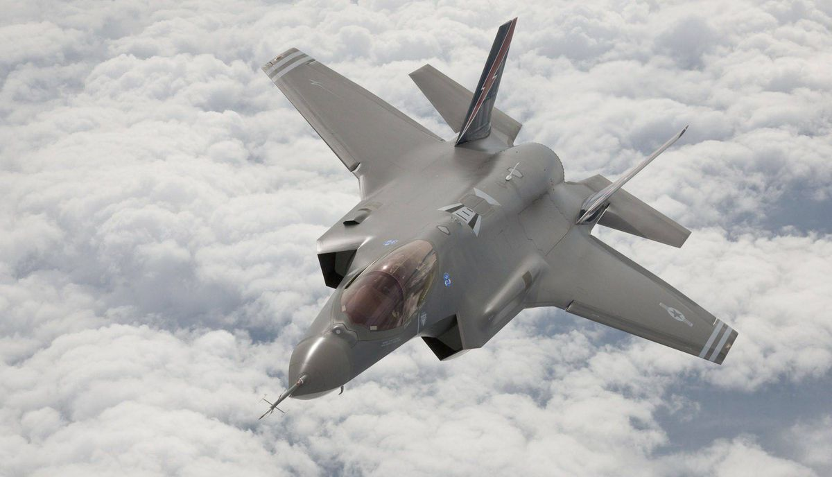 An F-35 Joint Strike Fighter arrives at Edwards Air Force Base in California in this May 2010 file photograph.