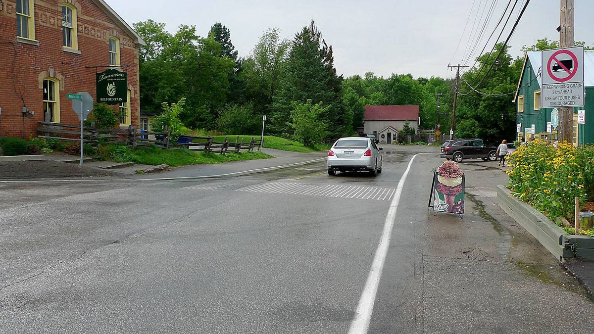 The village of Belfountain, on the west end of the Forks of the Credit Road.