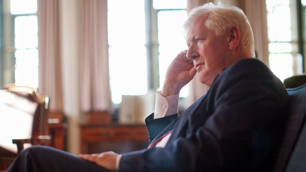 Interim Liberal Leader Bob Rae gives an interview at his Parliament Hill office on Sept. 20, 2011.