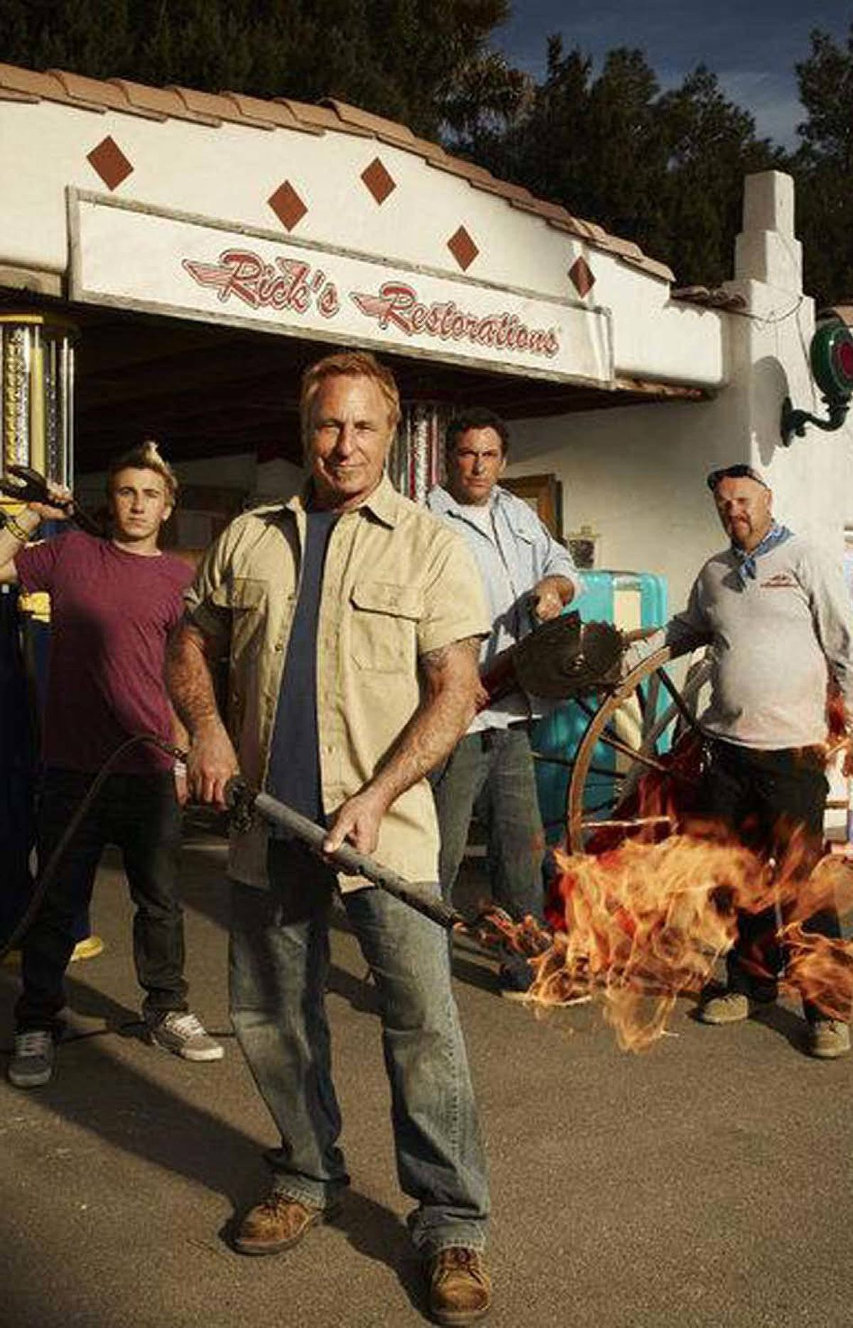 REALITY American Restoration History, 8 p.m. ET; 5 p.m. PT A spinoff from the hugely popular series Pawn Stars, this U.S. cable series documents the daily routine at the Las Vegas-based Rick's Restorations, which is operated by professional restorer Rick Dale and his teenaged son, Tyler. Tonight's double-episode run documents the restoration process of a pair of two-wheeled vehicles. In the first show, father and son are suitably impressed when someone wheels a classic 1967 Honda Scrambler motorbike into the shop. They're less thrilled in the second show, in which someone brings in a vintage 1967 Czechoslovakian motor scooter.