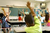 Teacher and kids in classroom