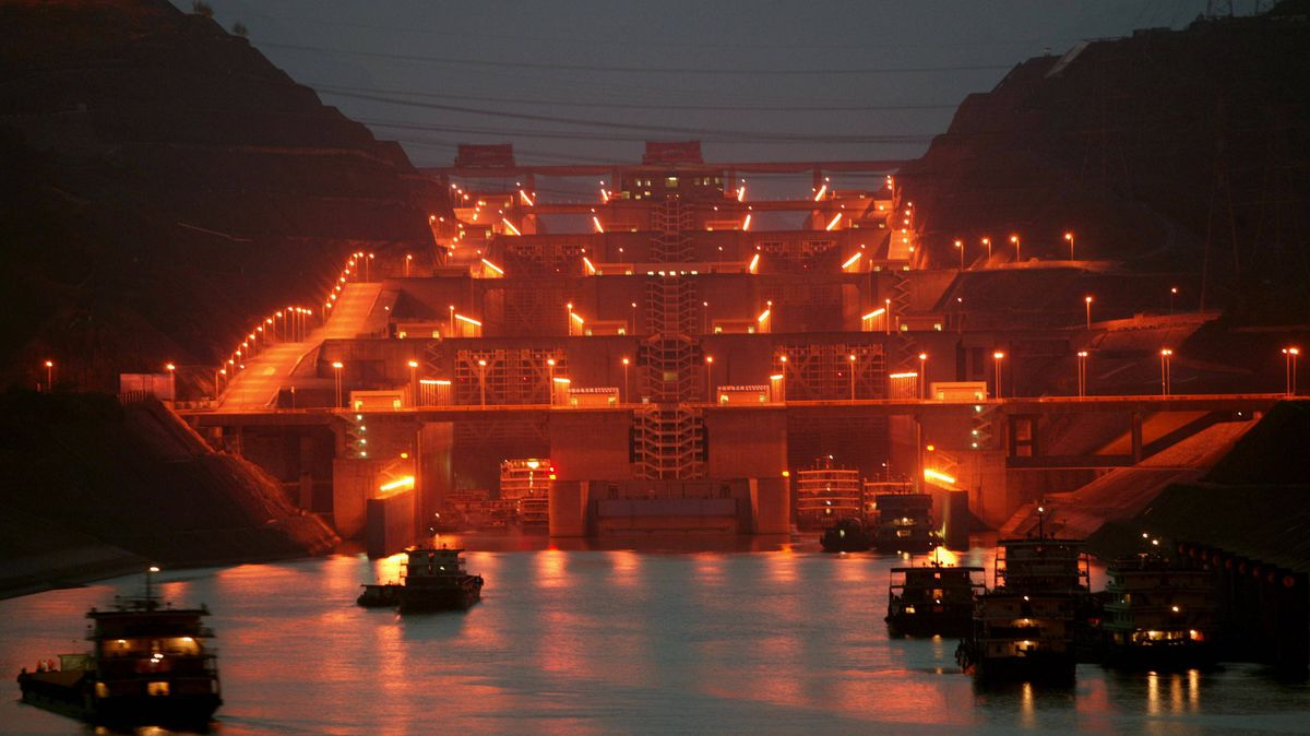 A general view of the ship locks of the Three Gorges Dam on the Yangtze River in Yingchang, central China's Hubei province.