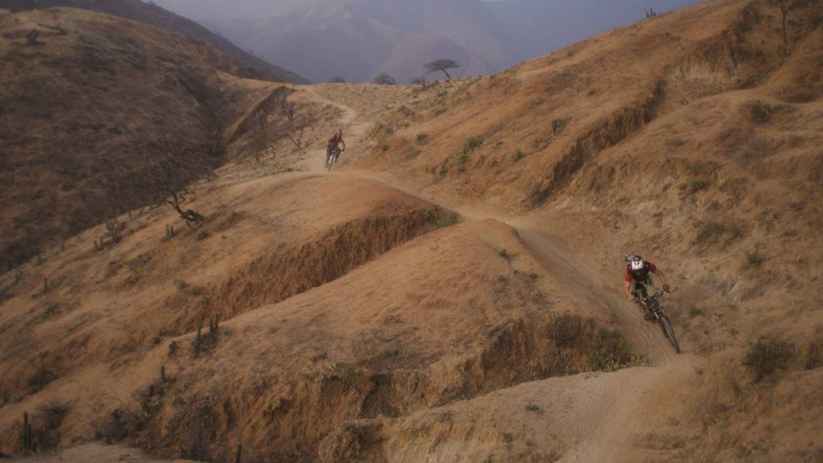 One of the longest downhill mountain bike trails in the world, Olleros, Peru