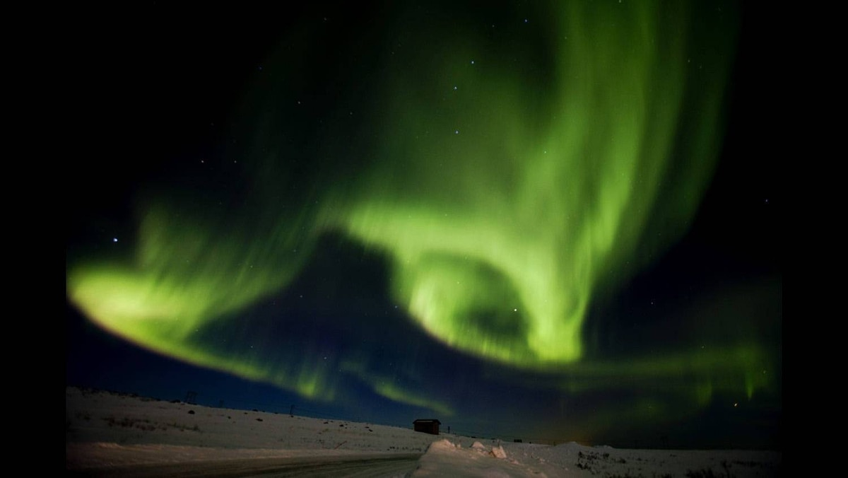 Aurora borealis, or northern lights, fill the sky on March 13, 2011 over Finnmark during the 1,000 km Finnmarksloepet, the world's northernmost sled dog race, in Finnmark county in northern Norway.