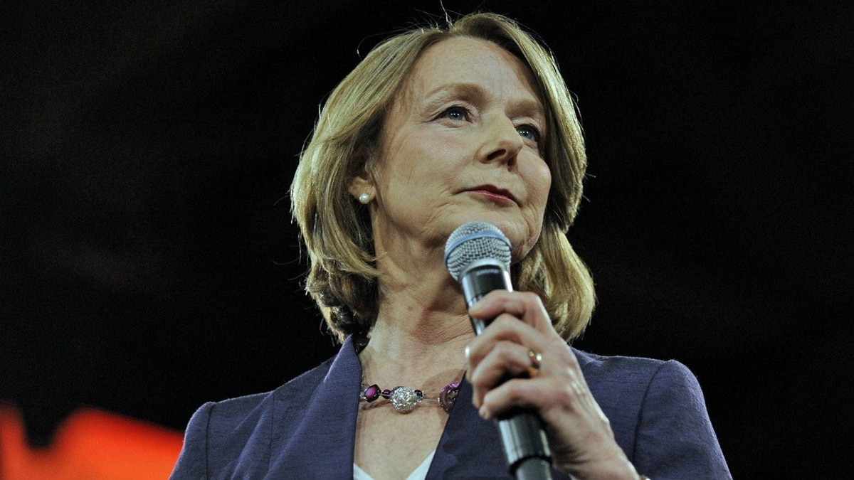 NDP finance critic Peggy Nash speaks during the party's leadership convention in Toronto on March 23 2012.