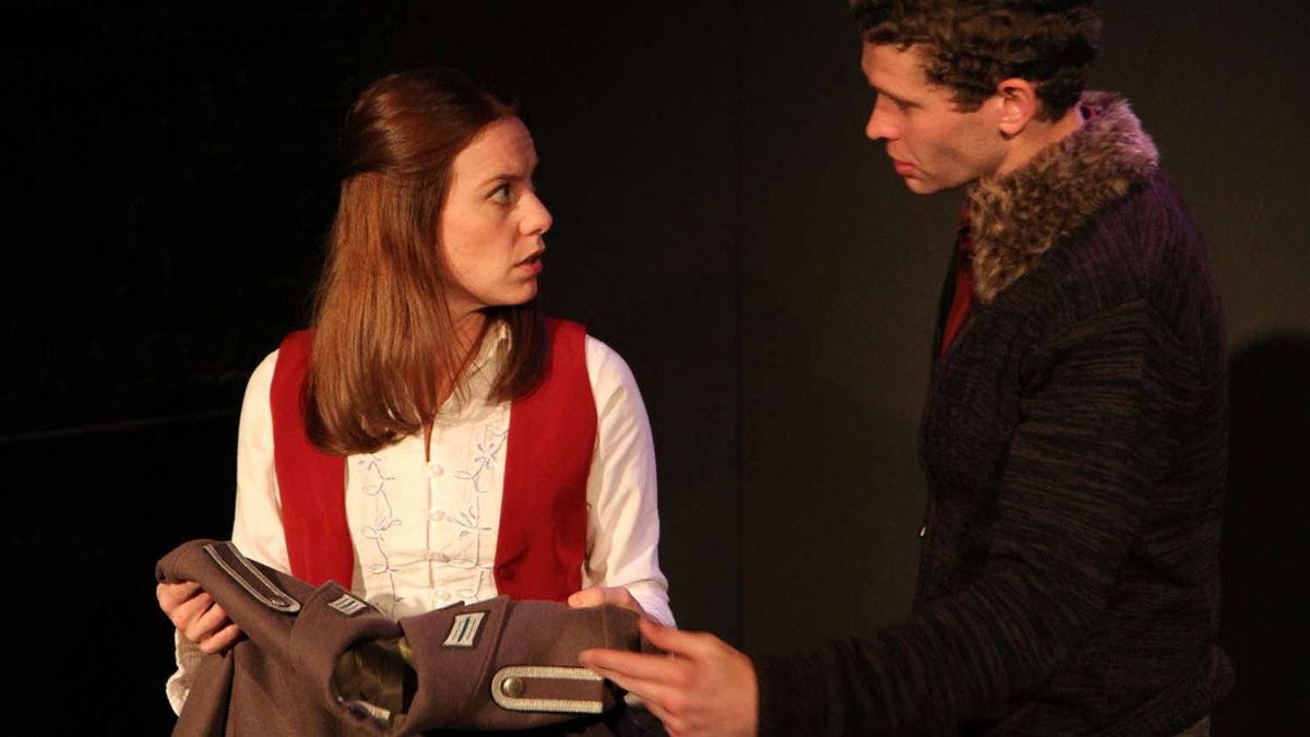 """Melanie Keller and Billy Fenderson in a scene from the Chicago production of """"East of Berlin"""" by Hannah Moscovitz"""