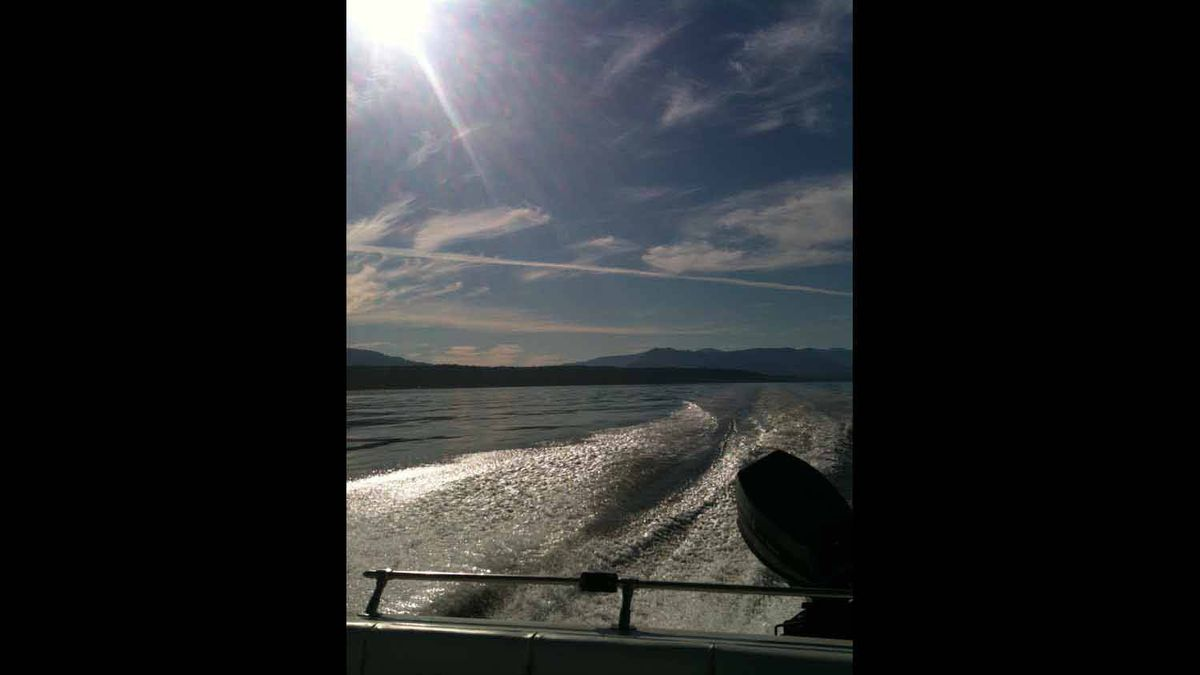 Took this picture while we were fishing near Qualicum, BC. Beautiful area for boating.