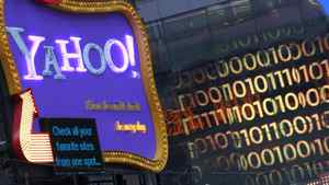 A Yahoo! billboard is seen in New York's Time's Square January 25, 2010.