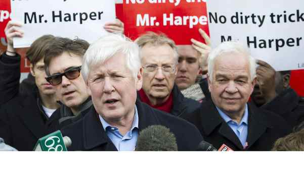 Interim Liberal leader Bob Rae speaks to the media in Toronto on Saturday at a press conference over alleged robocalls to Liberal supporters in last year's election.
