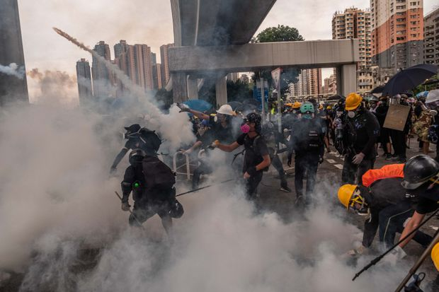 U.S and China Spar Over Hong Kong