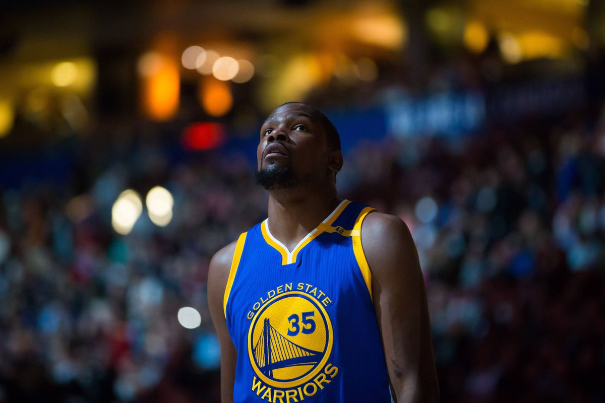 Kevin Durant talked with USA TODAY Sports and discussed a report that the Warriors could meet with LeBron James in free agency this summer