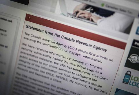CRA online services running again following Heartbleed scare