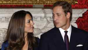 Britain's Prince William and his fiancee Kate Middleton (L) pose for a photograph in St. James's Palace, central London in a November 16, 2010 file photo.