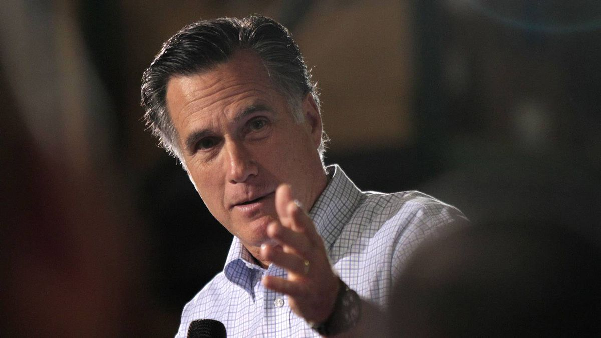 U.S. Republican presidential candidate Mitt Romney speaks to supporters at a town hall meeting at Moore Oil in Milwaukee, Wisconsin, April 2, 2012.