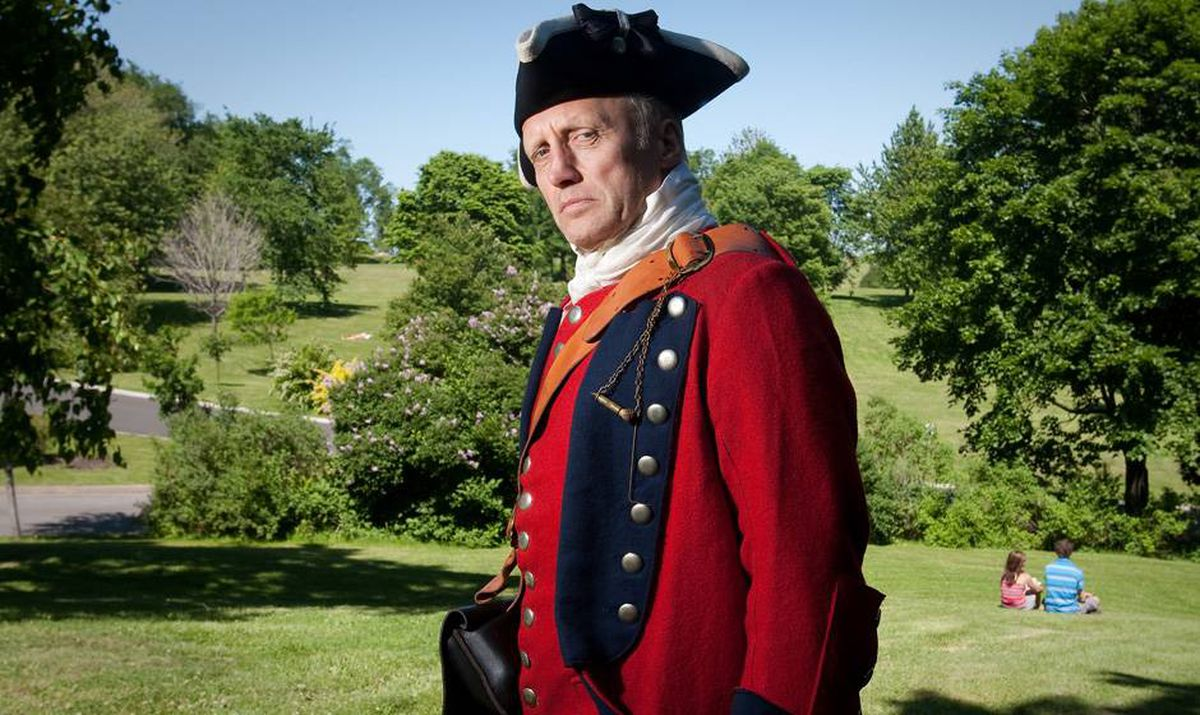 Globe writer Ian Brown dresses up in 18th-century British regalia on the Plains of Abraham in Quebec: 'It felt surprisingly grave.'