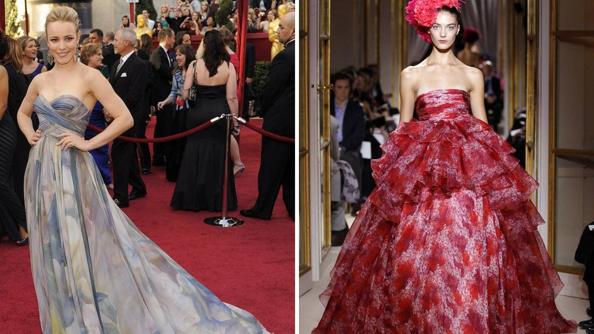 Rachel McAdams in Giambattista Valli The Canadian star tends to favour airy, almost ethereal, gowns. And while this couture creation would overwhelm many women, she's cute enough to shine through.