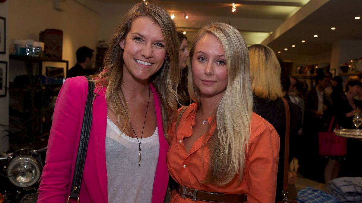 Andie Riedel and Madison Makepeace at the Motoretta event.