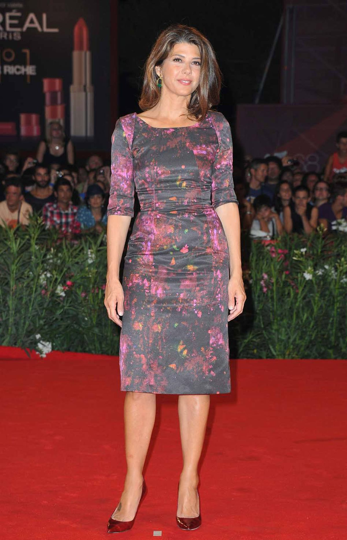 """Actress Marisa Tomei attends the """"W.E."""" premiere at the Venice Film Festival Thursday."""