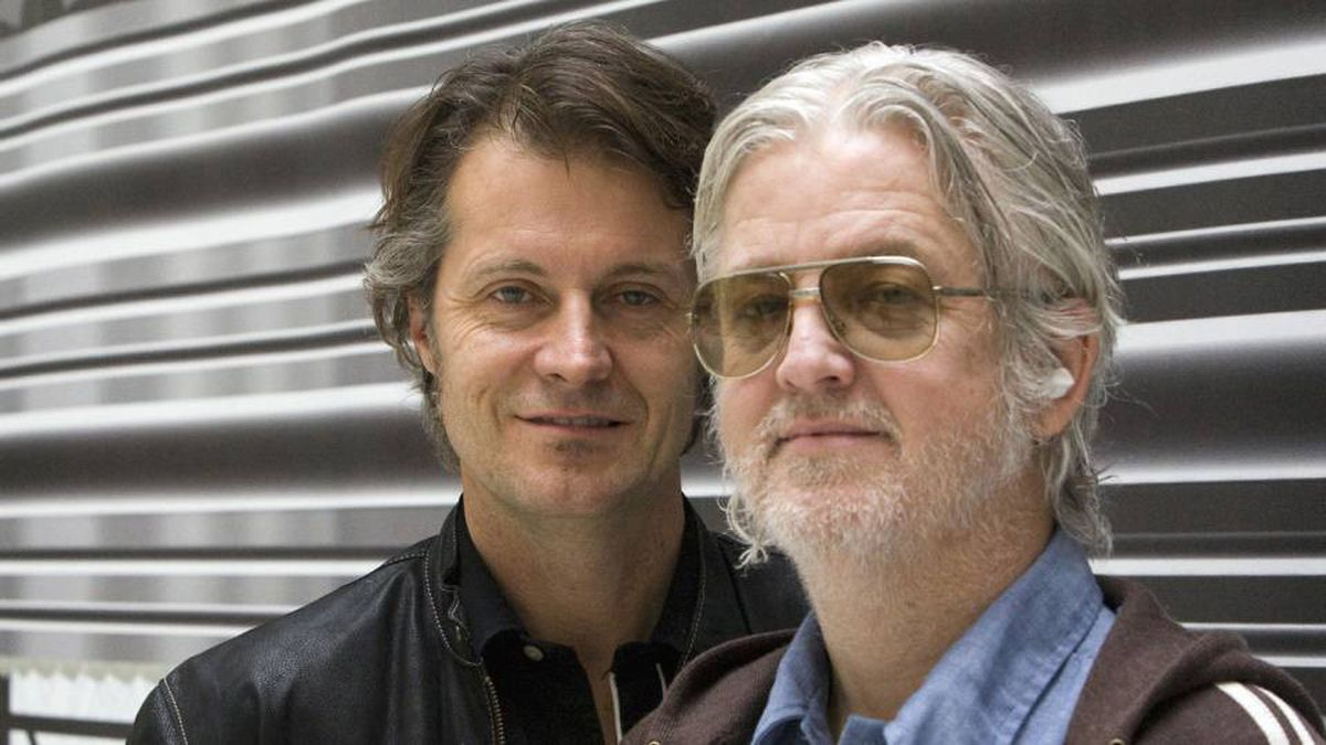 Jim Cuddy (left) and Greg Keelor of Blue Rodeo.