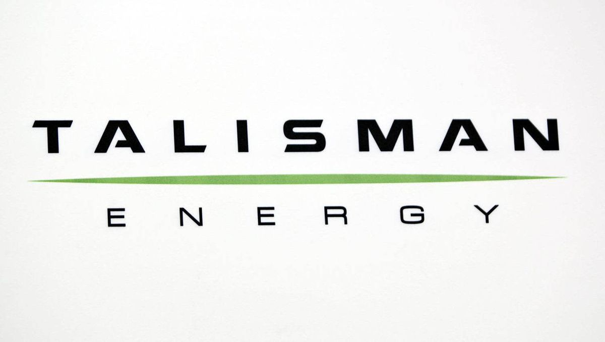 Talisman Energy, logo at the company's annual meeting in Calgary, Wednesday, May 4, 2011.