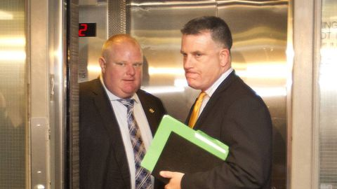 Mayor Rob Ford faces persistent questions over reports linking staff to police tip