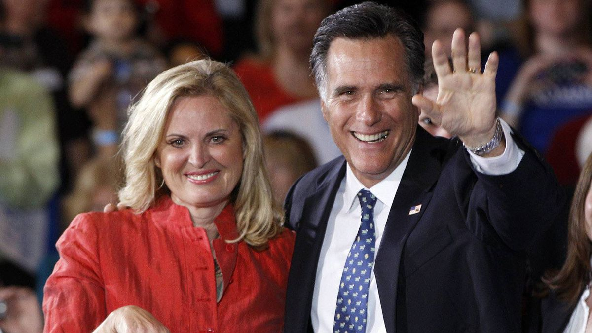 Republican presidential candidate, Mitt Romney, and his wife Ann celebrates his Florida primary election win at the Tampa Convention Center in Tampa, Fla., Jan. 31, 2012.
