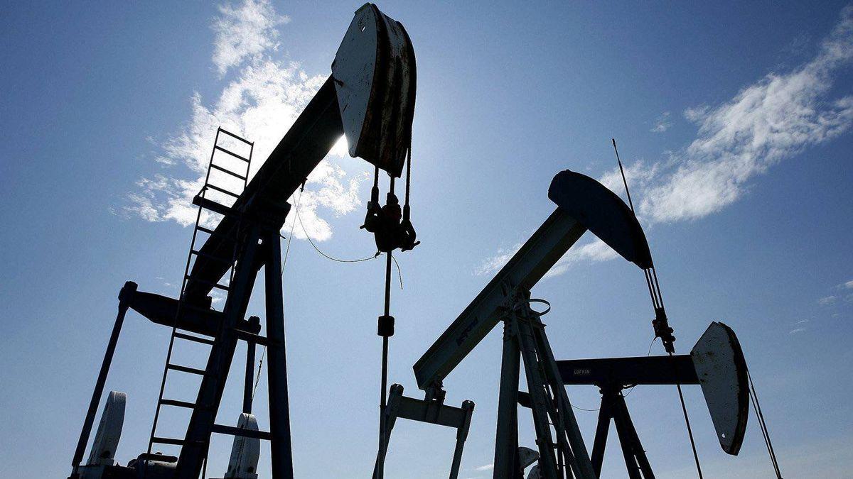 FILE -- Pumpjacks at work pumping crude oil near Halkirk, Alta