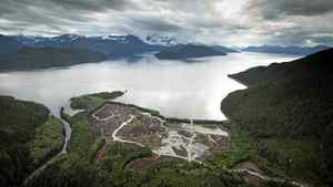 Workers clear the land at the Kitimat LNG site on Sept. 28, 2011, on the Douglas Channel, which leads out to the Pacific Ocean. Natural gas will be delivered via a pipeline on loaded on to ship head for Asia.