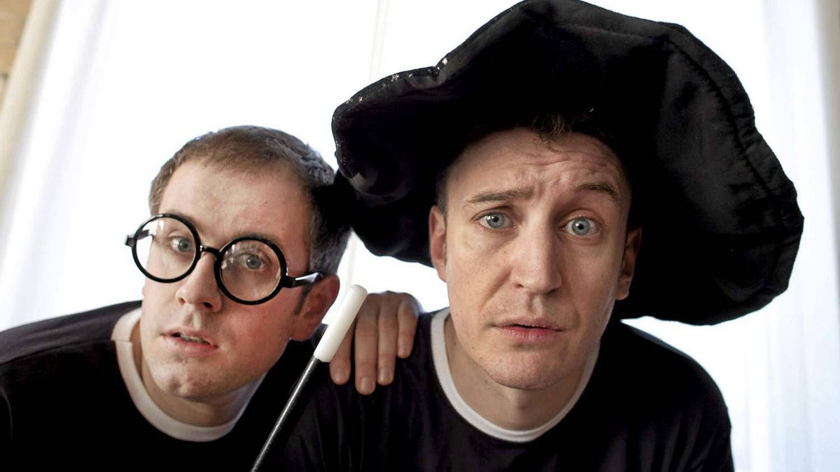 "Jefferson Turner (left) and Daniel Clarkson star in ""Potted Potter."""